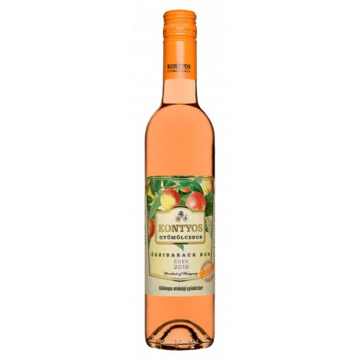 Kontyos édes Őszibarack bor 0,5l 2019